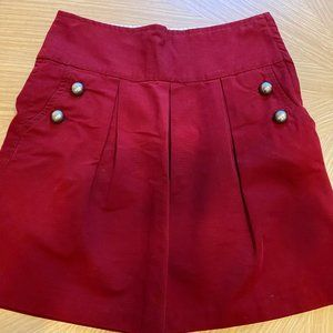 "Maroon ""bubble"" skirt from Anthropologie"